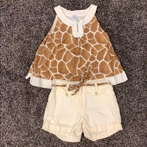 Janie and Jack Safari outfit in size 6